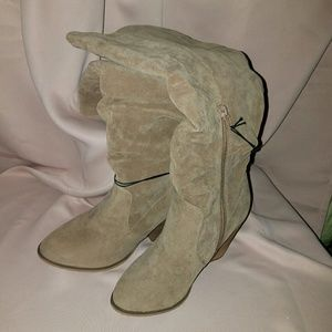 Calf High Suede Boots